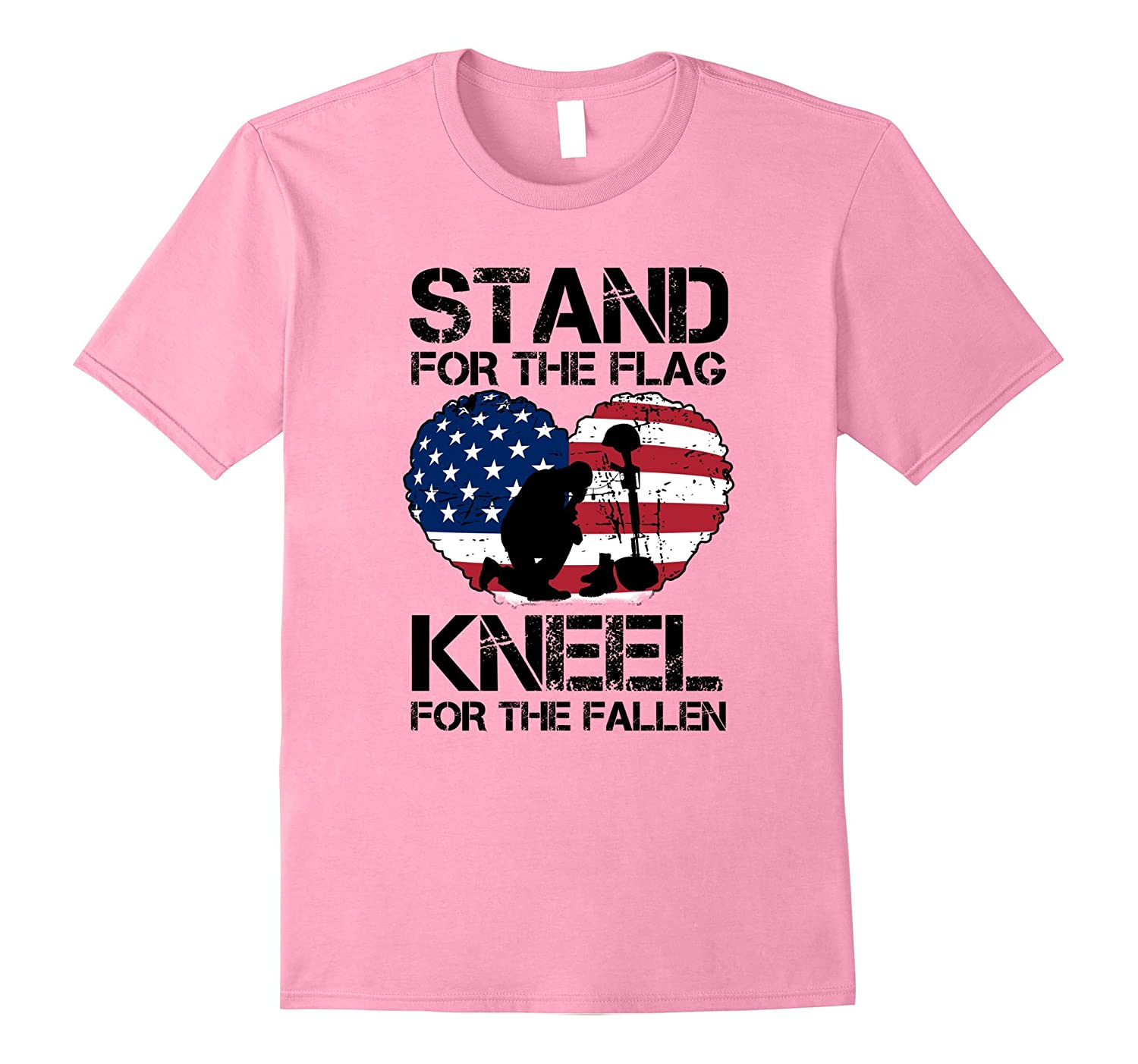46904176cab2c Stand For the Flag, Kneel For The Fallen! Patriotic T-Shirt-T-Shirt