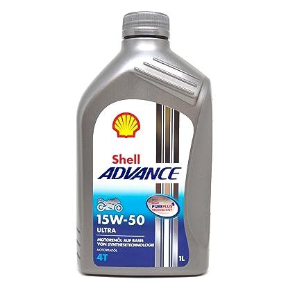 SHELL 1525001 Advance Ultra 4 SAE 15W-50 Aceites de Motor para Coches 1 litro