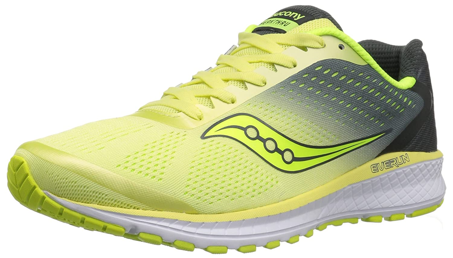 Saucony Women's Breakthru 4 Running Shoe B071WM6XS1 10 B(M) US|Lime/Grey