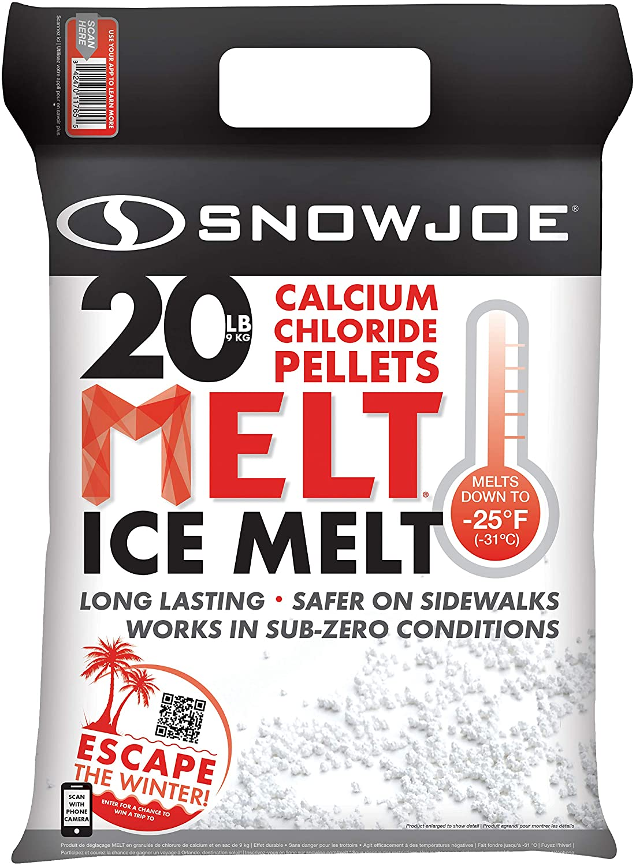 Snow Joe MELT20CPP Pure Calcium Chloride Ice Melt Pellets | 20-Lbs | 94% Pure