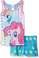 My Little Pony Girls Rainbow Dash Pinkie Pie 2pc Pajama Tank Set