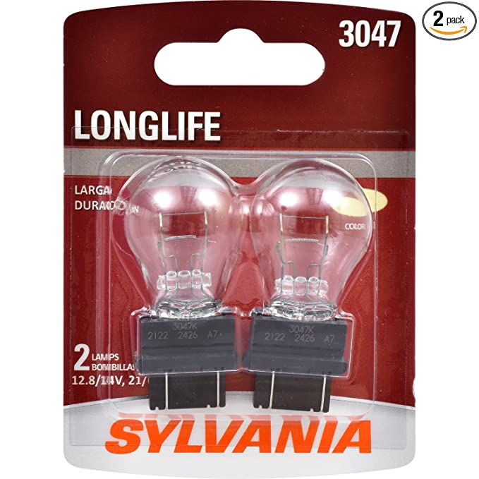 Amazon.com: SYLVANIA 3047 Long Life Miniature Bulb, (Contains 2 Bulbs): Automotive