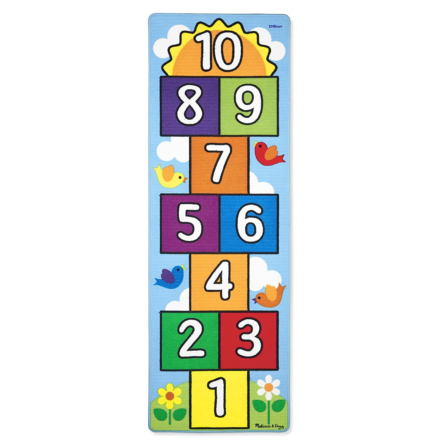 Melissa & Doug Personalized Hop and Count Hopscotch Game Rug (3 Piece), 78.5