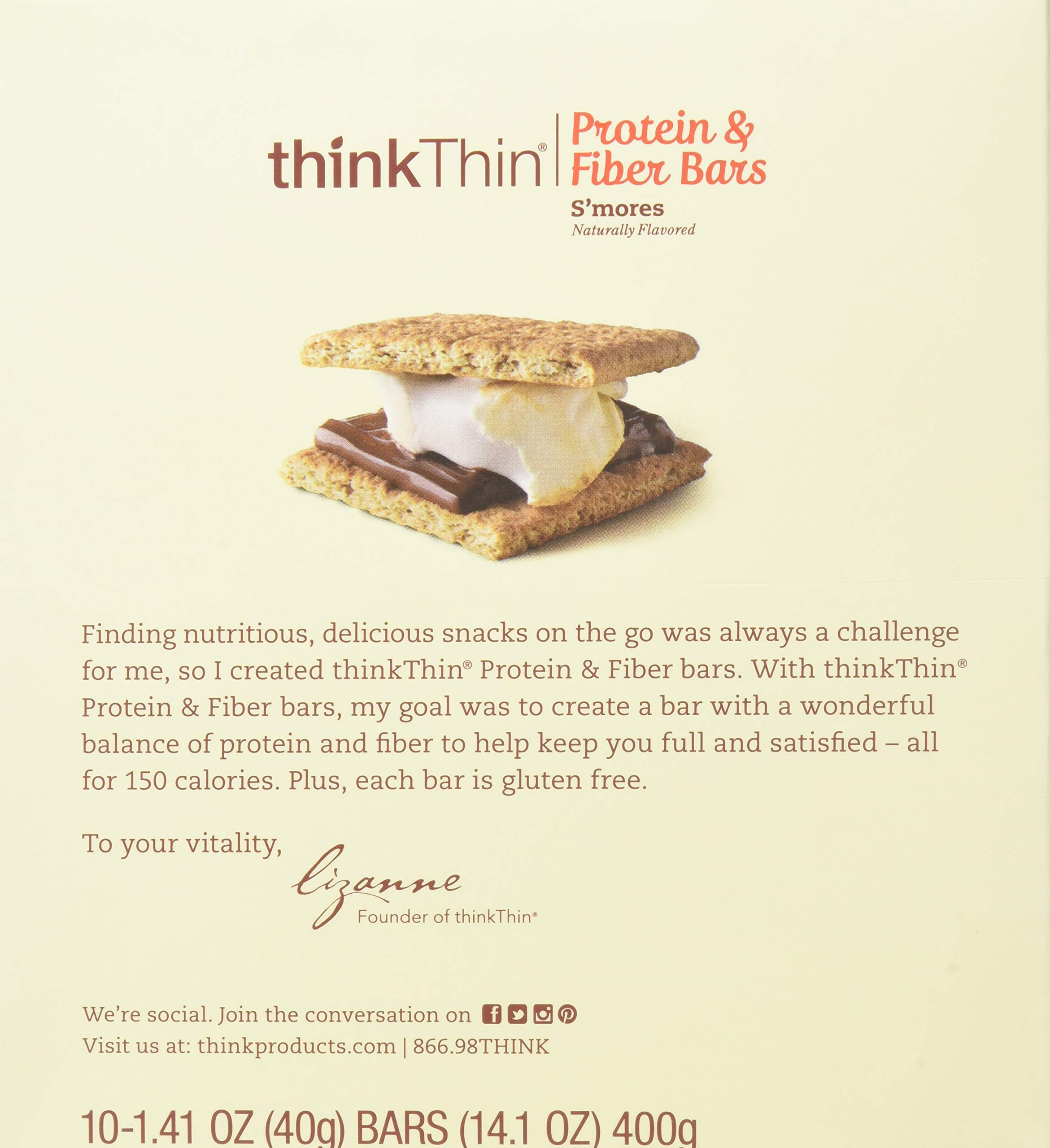 Think Thin Salted Caramel Lean Bar, 1.41 Ounce -- 120 per case. by thinkThin (Image #4)