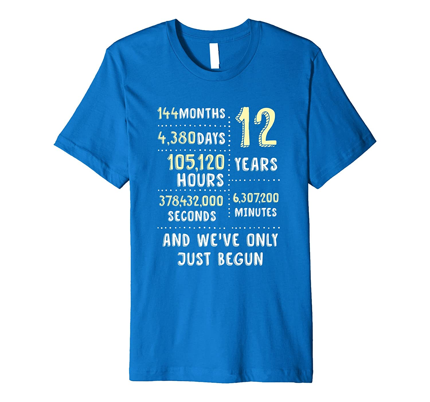 12 Years Anniversary T-Shirt / Cute Gift for Her or Him-Teeae