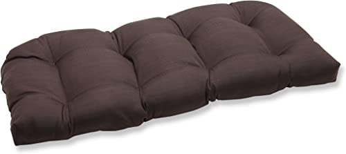 Pillow Perfect Outdoor Forsyth Chocolate Wicker Loveseat Cushion