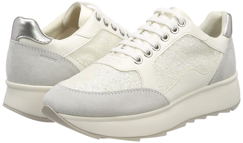 Geox D Gendry B, Zapatillas para Mujer, Blanco (Off White), 36 EU
