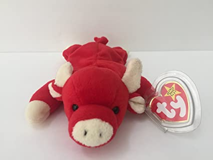 Amazon.com  Ty Beanie Baby - Snort the Bull - Retired by Beanie ... 35978a50761