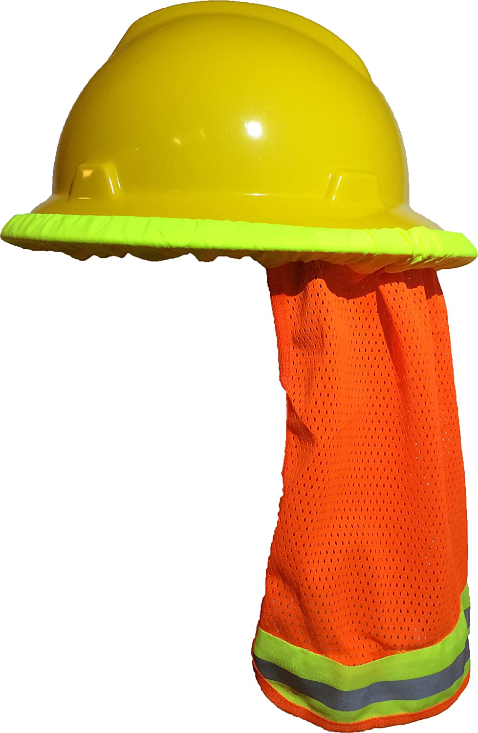US Safety Hard Hat Neck Shield Cover Helmet Sun Shade Reflective Stripe 2 Colors
