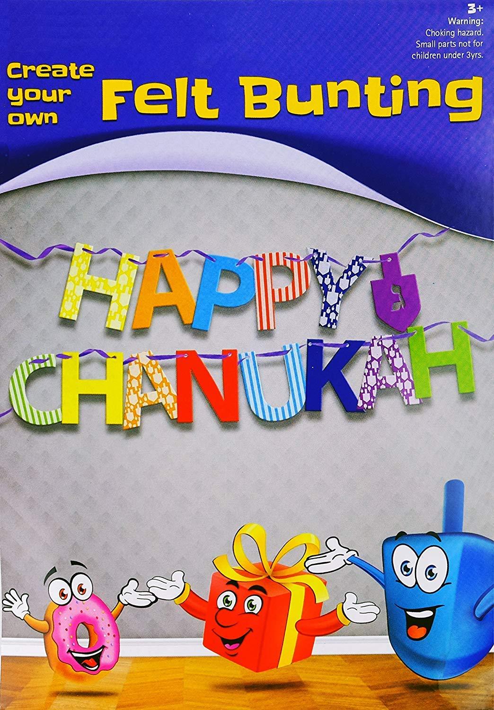 Happy Chanukah Banner Felt Create Your Own Craft