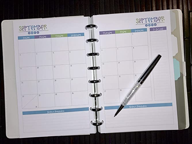 photograph relating to Discbound Planner Printables referred to as : 2018 2019 2020 Regular Calendar for Discbound