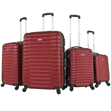 Vojagor® - Juego de 4 maletas de viaje (diferentes colores a ...