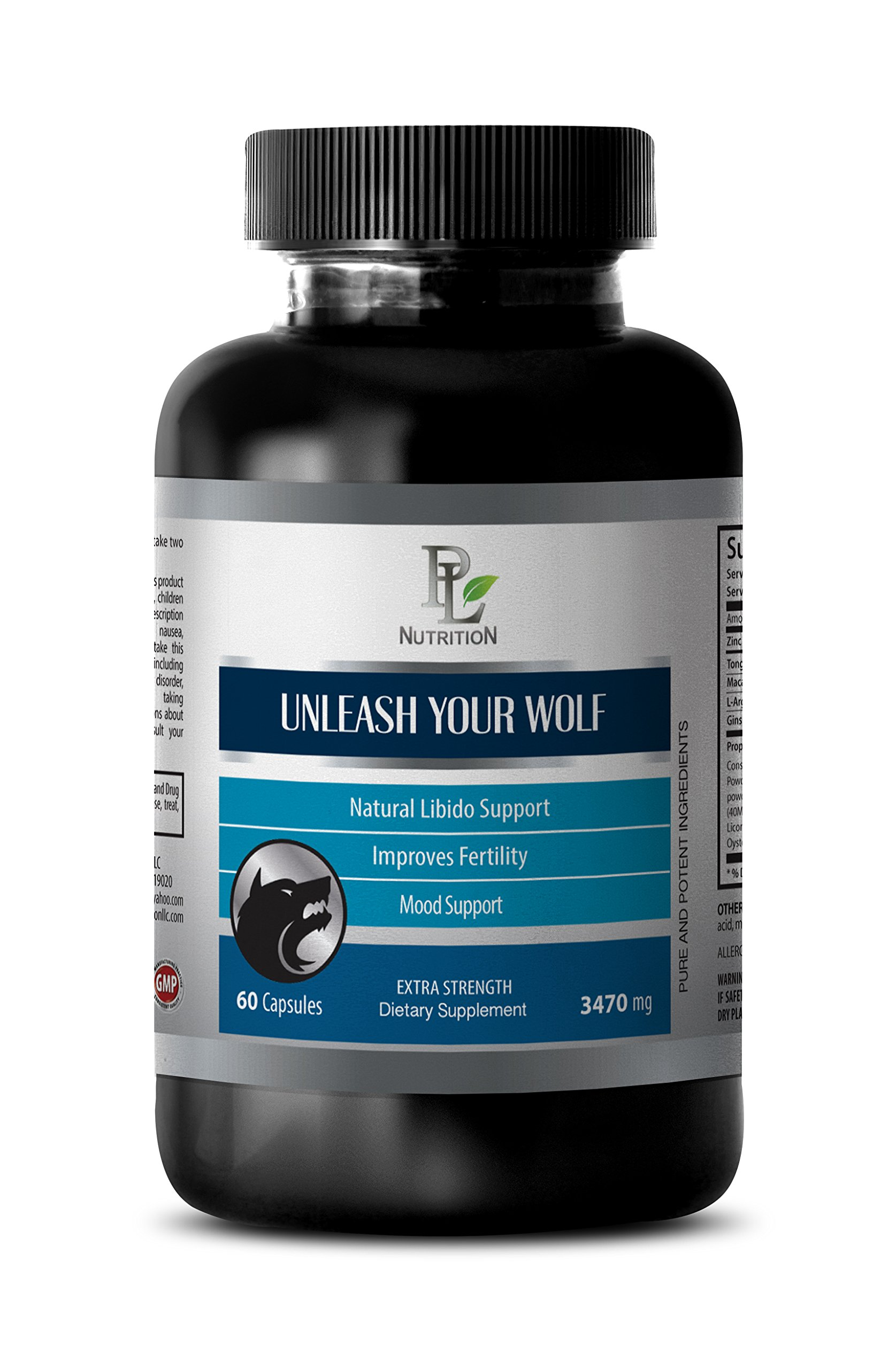 sexual enhancement for men natural - UNLEASH YOUR WOLF - EXTRA STRENGTH - Tongkat - 1 Bottle (60 Capsules)