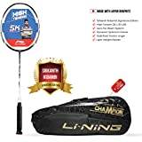 Li-Ning SK Series Carbon-Graphite Strung Badminton Racquet with Free Kit-Bag