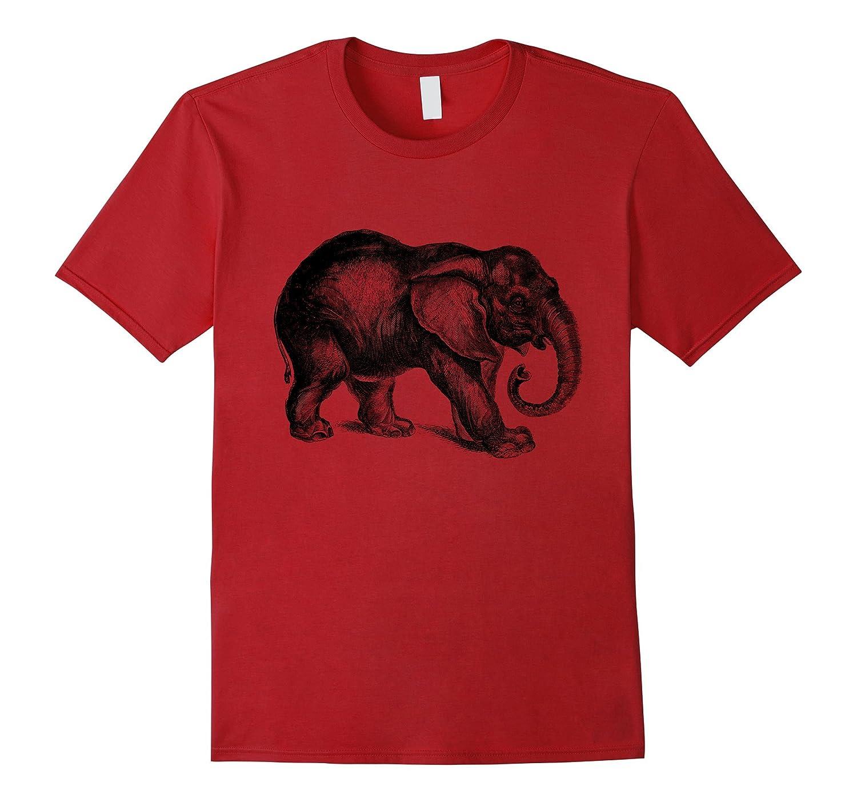 Happy Jungle Elephant Print T-Shirt-ANZ