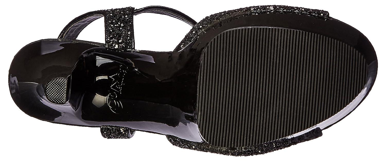 Pleaser Women's Asp609g/b/m Platform Sandal B01ABTBDHS 5 B(M) US|Black Glitter/Black
