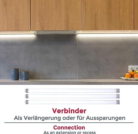 Tiras LED 4x50cm con cubierta de silicona 12W, blanco frío 4000k, luz para mueble, encuadre de cuadros y gabinetes: Amazon.es: Iluminación