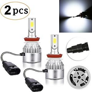 CK FORMULA H11 LED Headlight Bulb (Fog Light) C6 All-in-One Conversion Kit, 72W 8500LM 6500K Cool White, PGJ19-2 Base