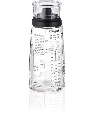 Leifheit 6686-Mezclador para vinagretas, Escala de medición en ml y FL oz,