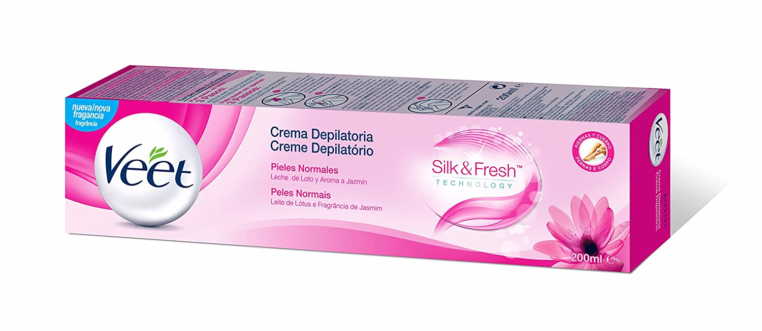 Veet Crema Depilatoria Piel Normal, 200 ml: Amazon.es: Salud y cuidado personal