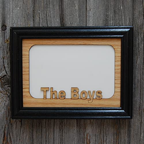 Amazon 5x7 The Boys Picture Frame Wooden Handmade