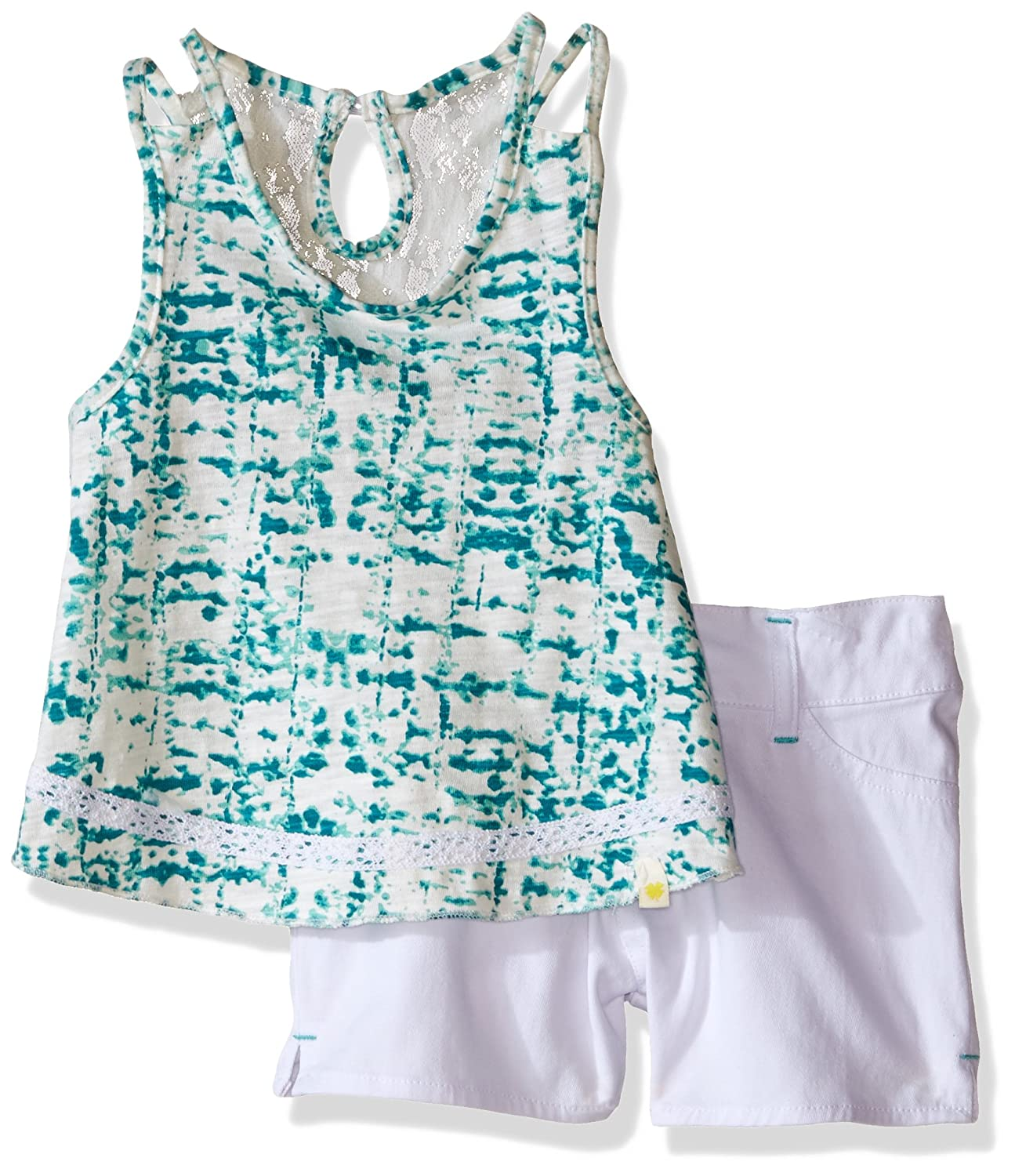 Lucky Brand Girls Tie Dye Lace Set