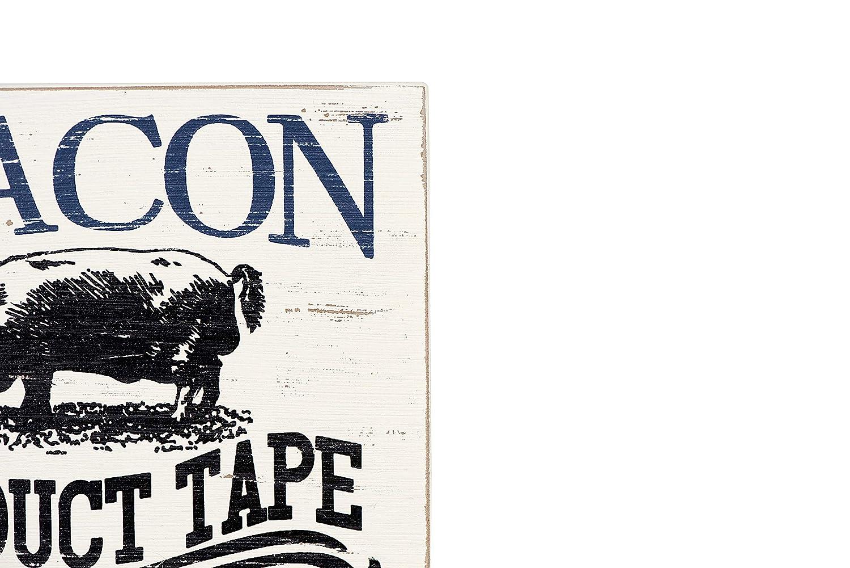 Creative Co-op 6.5 L x 8 H Bacon is Duct Tape Block Decor DA6130