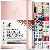 Clever Fox Planificador presupuestario – cuaderno de seguimiento de gastos. Diario de presupuestación mensual, planificador d