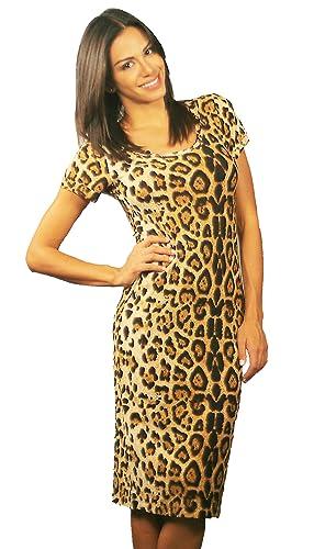 Leopard Print T-shirt Dress By Luxxe