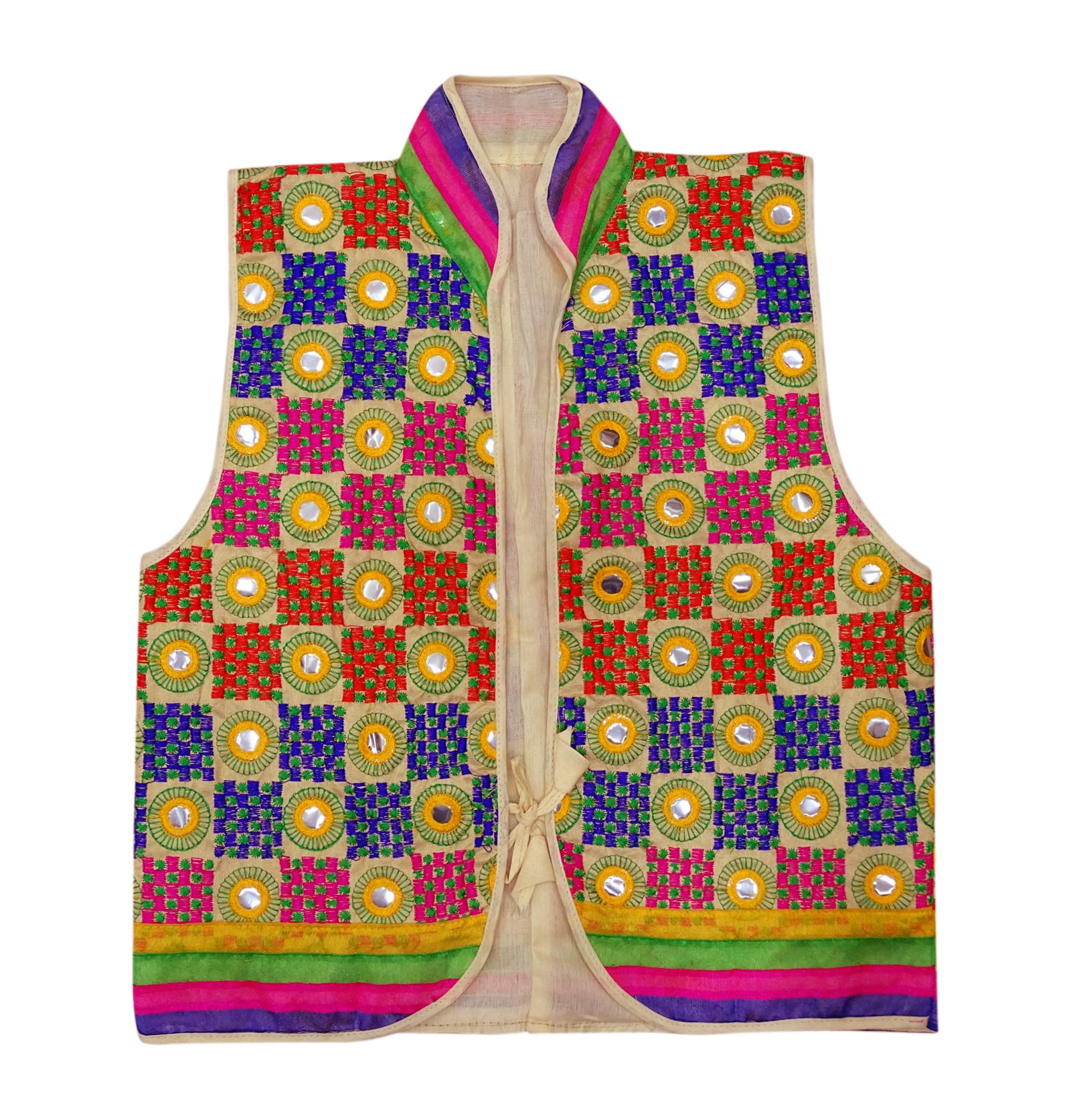 Peegli Kutch Embroidered Banjara Jacket Traditional Shrug Rajasthani Koti by Peegli