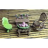 The Super Cute Miniature (Eight Piece) Fairy Garden Furniture & Tiny Tea Set