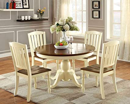 Attirant Furniture Of America Pauline 5 Piece Cottage Style Oval Dining Set