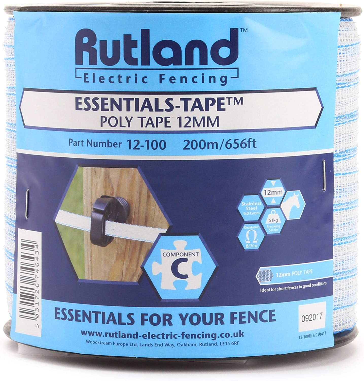 Tractor Factory Shire Electric Fence Polywire 3 Stainless Steel Wire Strands 250 metres x 2mm did