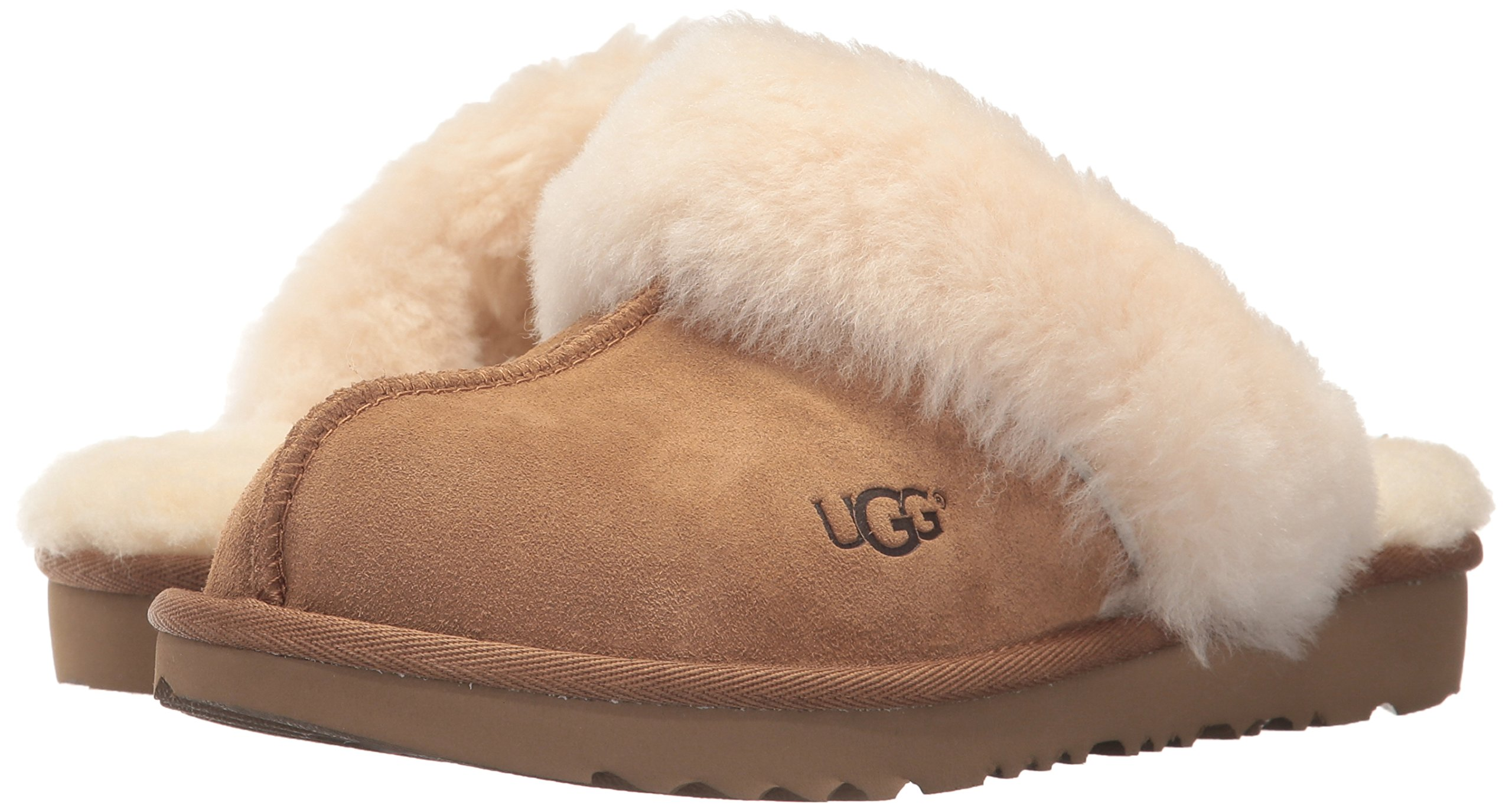 UGG Girls K Cozy II Slipper, Chestnut, 13 M US Little Kid by UGG (Image #6)