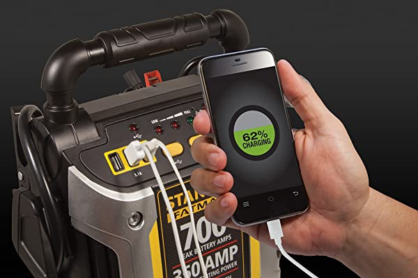 The STANLEY FATMAX J7CS is an especially handy jump starter to have in times of crisis.