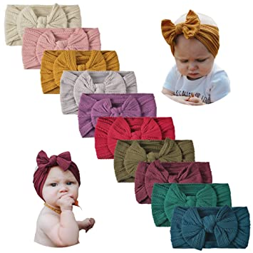 Baby Girl Cable Knit Nylon Turban Accessories  Headband Newborn
