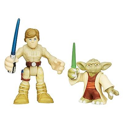 Playskool Heroes Star Wars Galactic Heroes Yoda and Luke Skywalker: Toys & Games