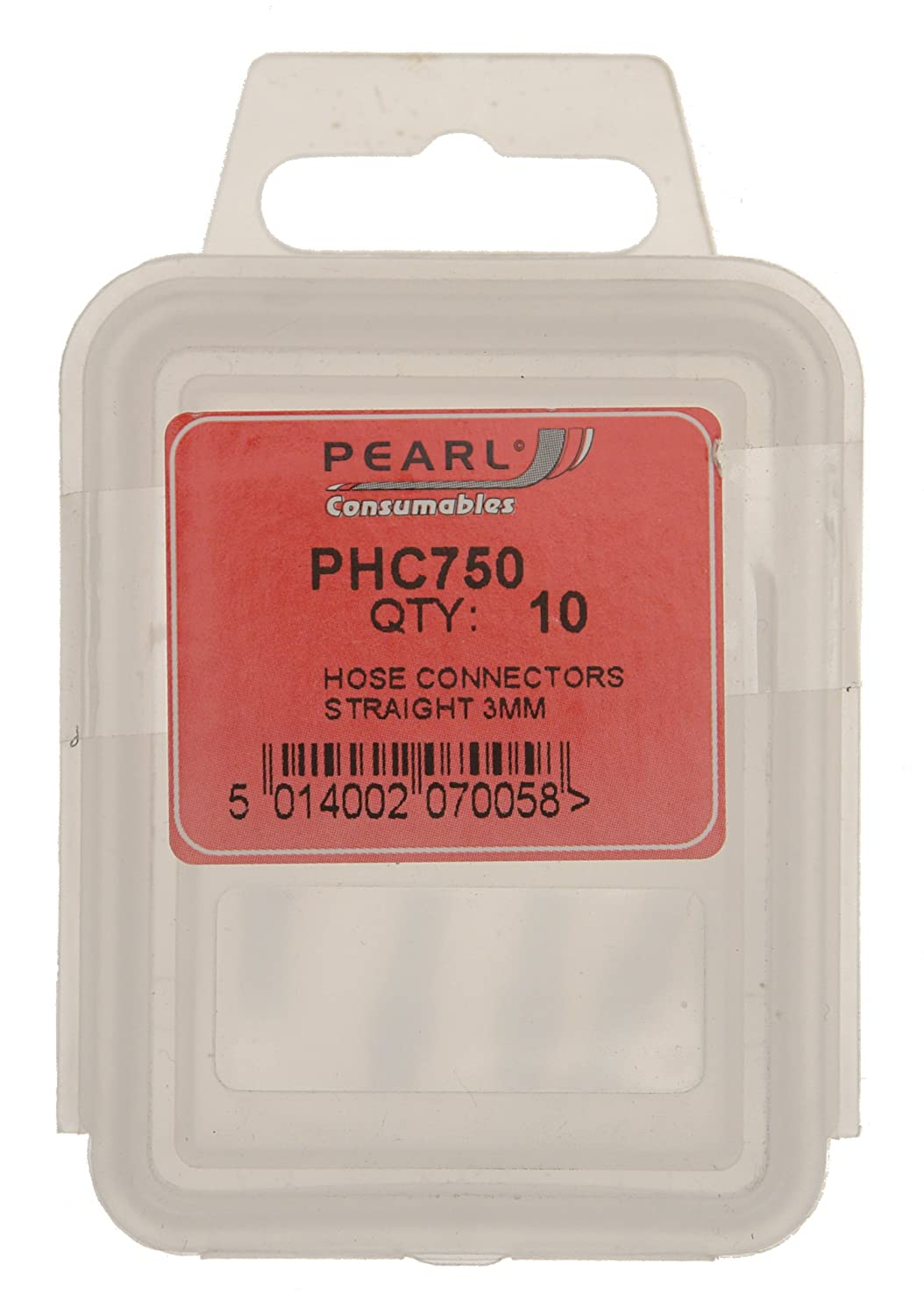 Pearl PHC750 3mm Straight Hose Connector (Pack of 10) Pearl Automotive