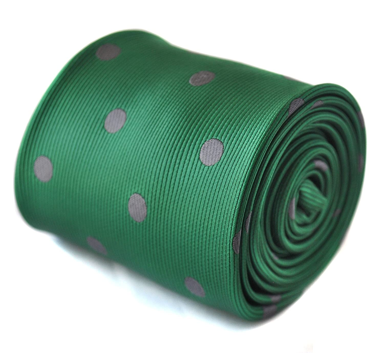 Frederick Thomas verde y foco de lunares gris corbata con ...