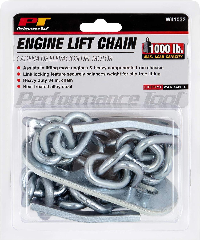 "Performance Tool W41032 1/2 Ton (1,000 lbs.) Capacity 34"" Engine Lift Chain: Automotive"