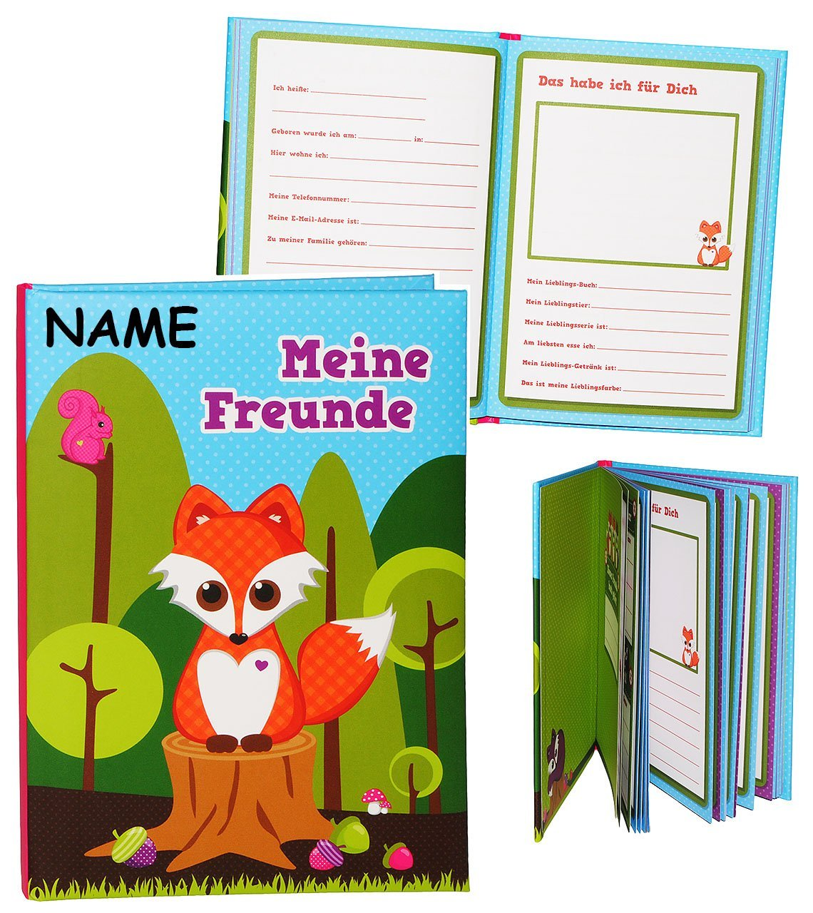 Freundebuch - MIT Name