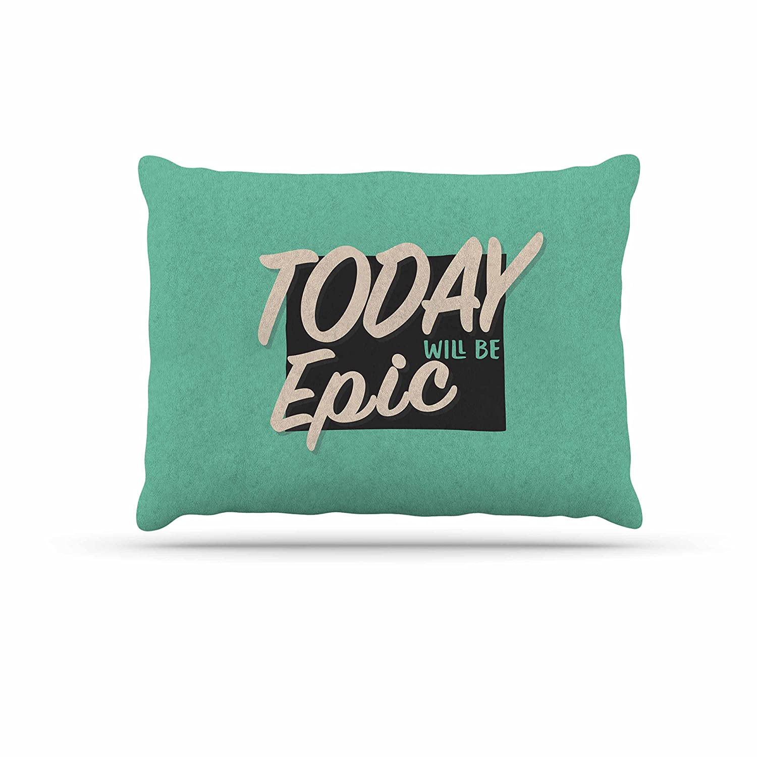 KESS InHouse Juan Paolo Epic Day Vintage Teal Dog Bed, 30  x 40