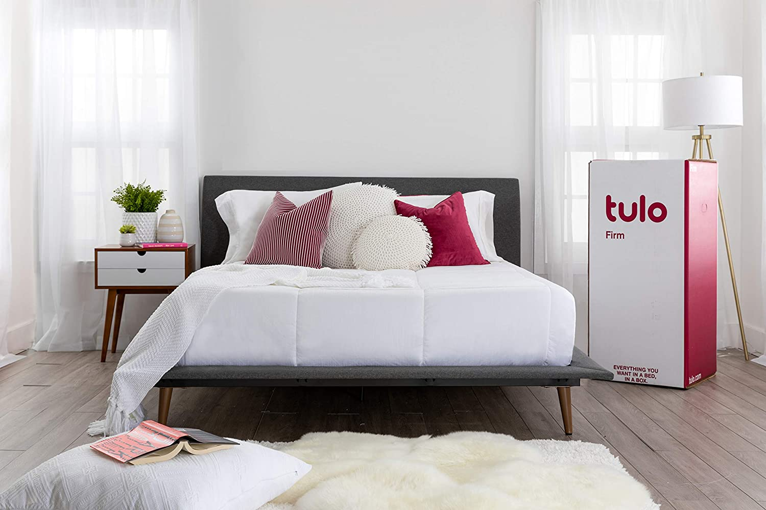 Mattress by tulo, Pick your Comfort Level, Firm King Size 10 inch, Bed in a Box