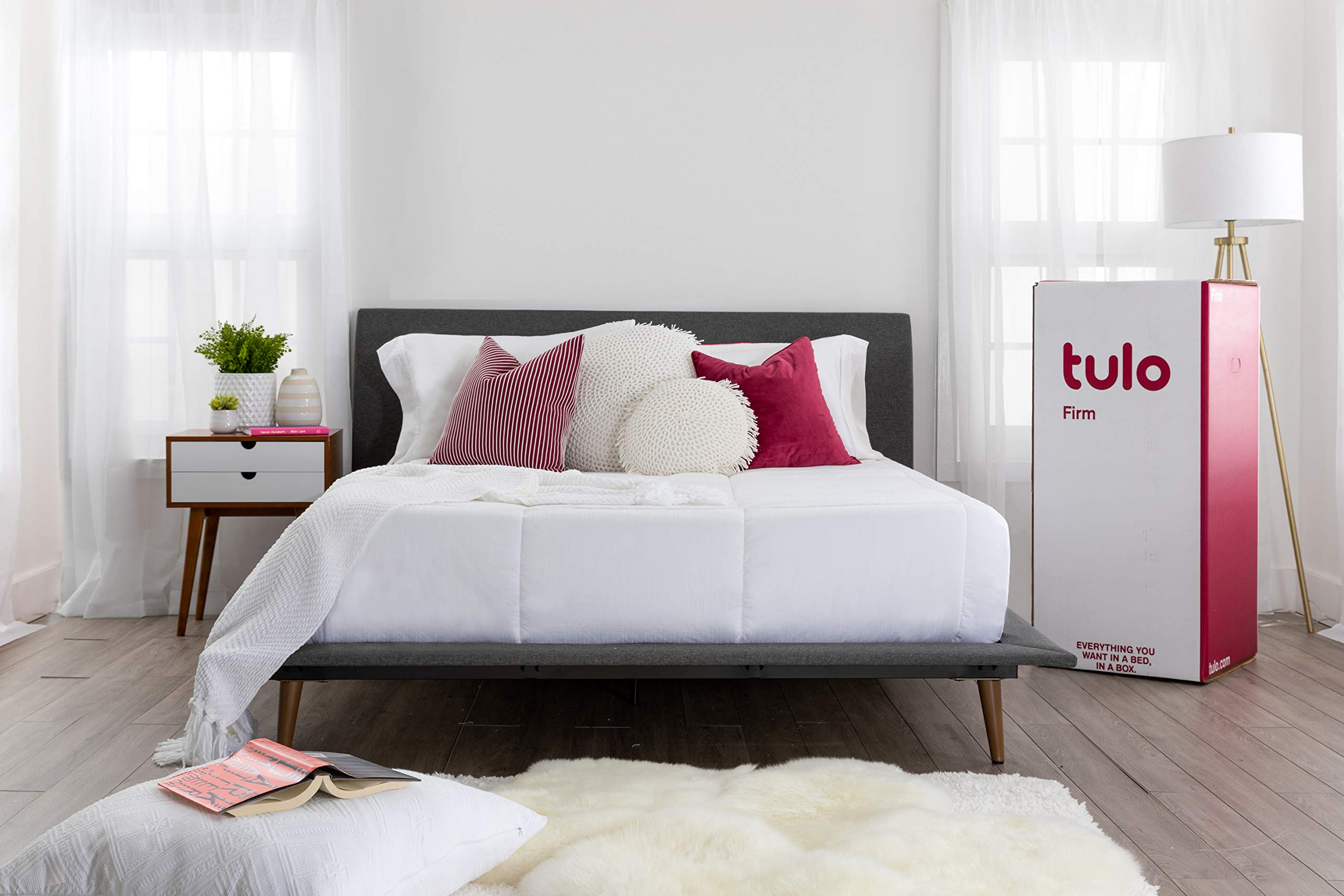 Mattress by tulo, Pick your Comfort Level, Firm Queen Size 10 inch, Bed in a Box, Great for Sleep and Optimal Body Support by Tulo