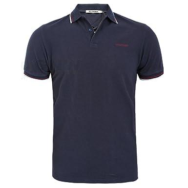 8f1001156 Ben Sherman Men s Detail Collar Polo T-Shirt Grey