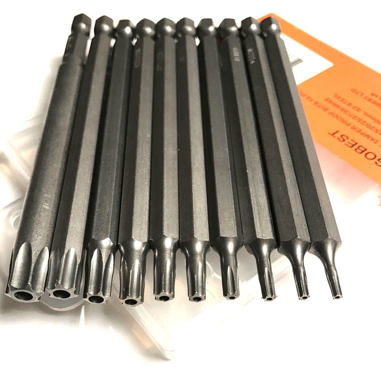 Screwdriver Torx Bit Magnetic 100mm Extra Long Steel Repair Tool Tamper Proof