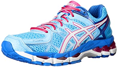 ASICS Women's Gel kayano 21 Running Shoe,Powder Blue/White/Hot Pink,