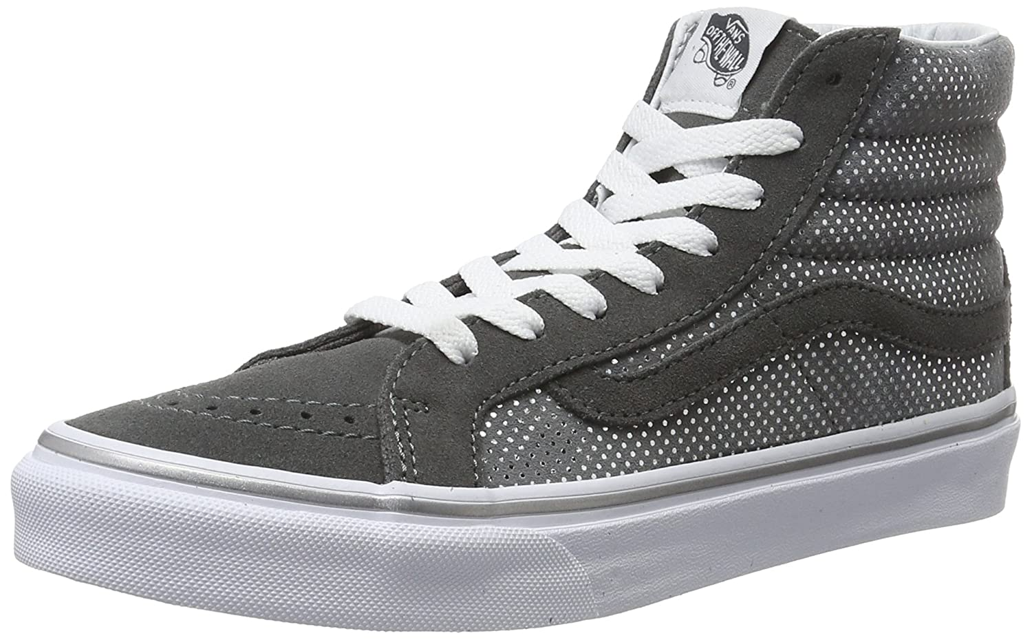 Vans Damen UA Sk8-Hi Slim Hohe Sneakers, Bay/True White, 37 EU  35 EU|Grau (Metallic Dots)