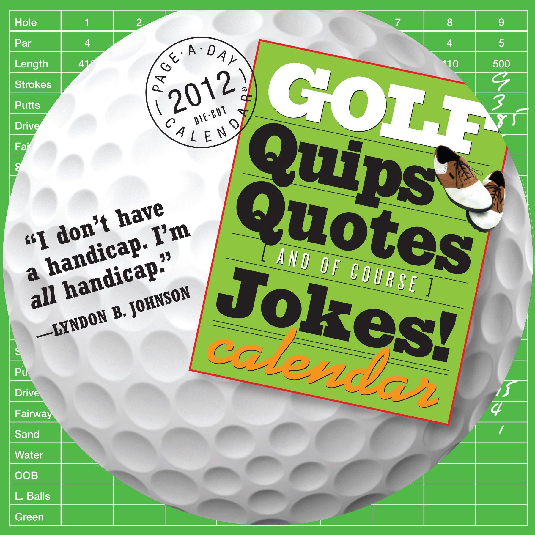 Golf Quips Quotes Jokes Calendar product image