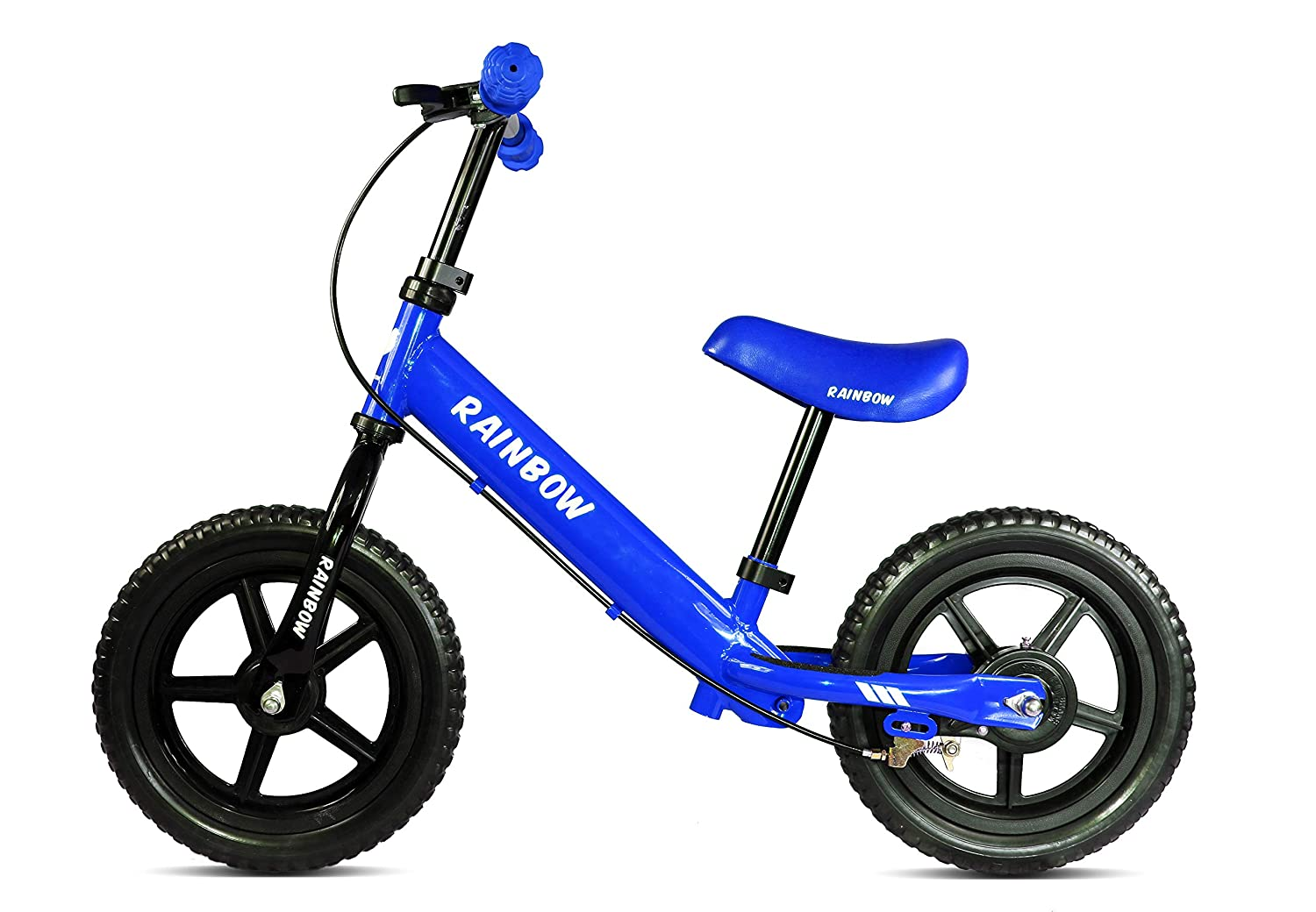 """Rainbow Balance Bike for Kids 12"""" Wheels No-Pedals Bike for Boys & Girls 2-5 Years Old, Children Learn How to Balance Them self on a Bike Safely with Brakes"""